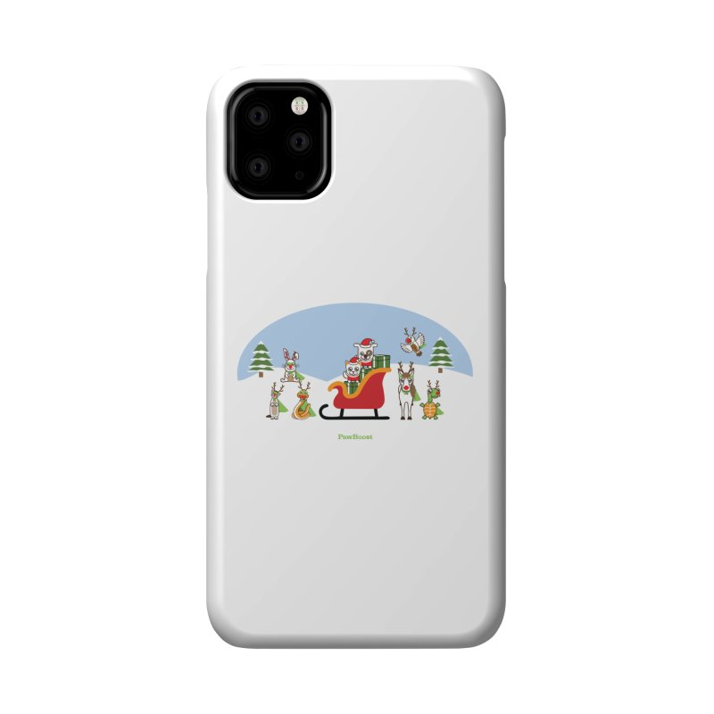 Santa Paws & Reindeer Accessories Phone Case by PawBoost's Shop