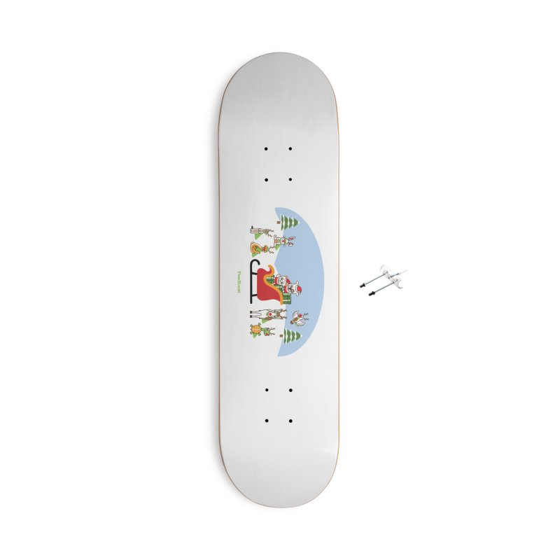 Santa Paws & Reindeer Accessories With Hanging Hardware Skateboard by PawBoost's Shop