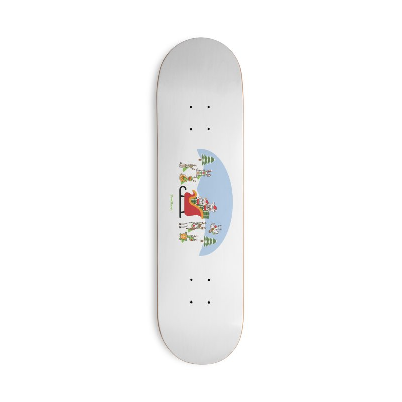 Santa Paws & Reindeer Accessories Deck Only Skateboard by PawBoost's Shop