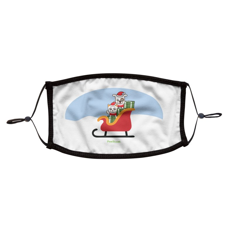 Santa Paws Accessories Face Mask by PawBoost's Shop