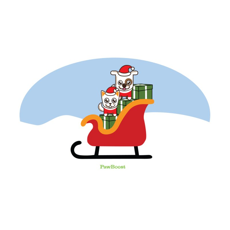 Santa Paws Accessories Magnet by PawBoost's Shop