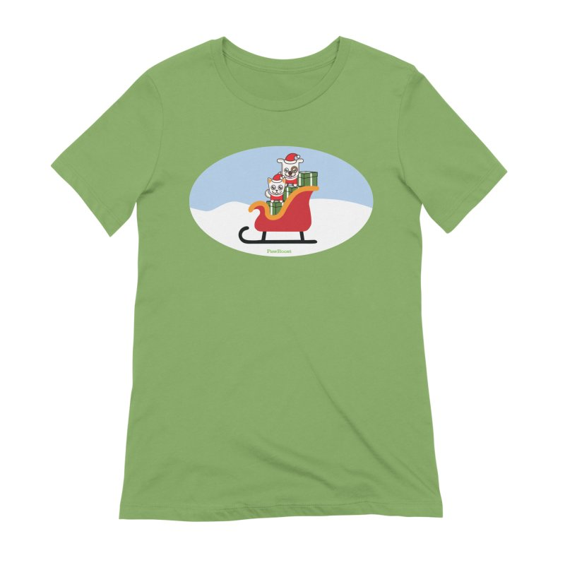 Santa Paws Women's Extra Soft T-Shirt by PawBoost's Shop