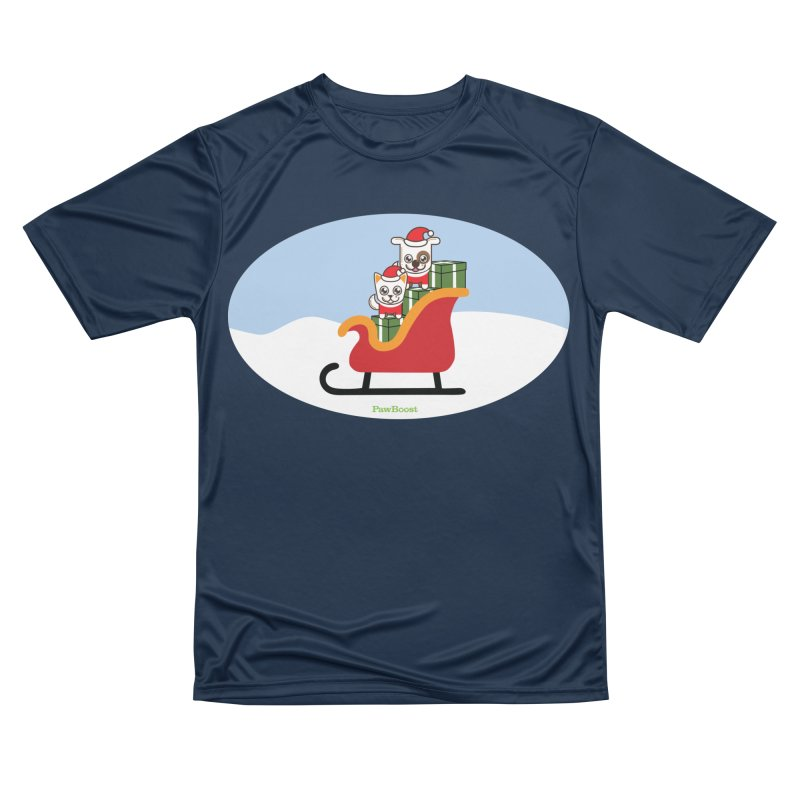 Santa Paws Women's Performance Unisex T-Shirt by PawBoost's Shop