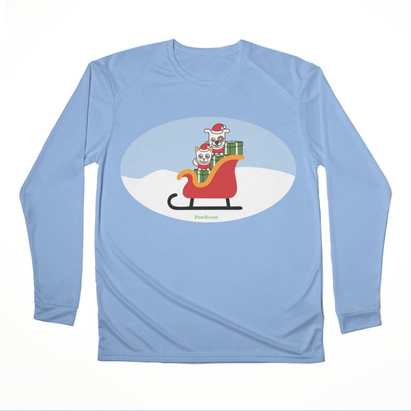 Santa Paws Men's Longsleeve T-Shirt by PawBoost's Shop