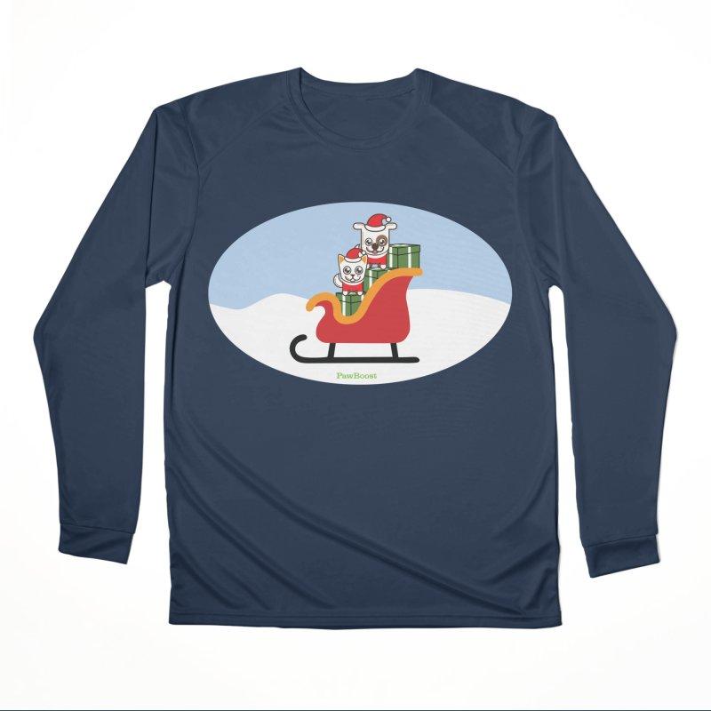 Santa Paws Women's Performance Unisex Longsleeve T-Shirt by PawBoost's Shop