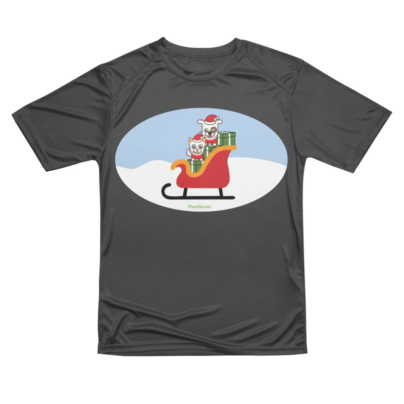 Santa Paws Men's Performance T-Shirt by PawBoost's Shop