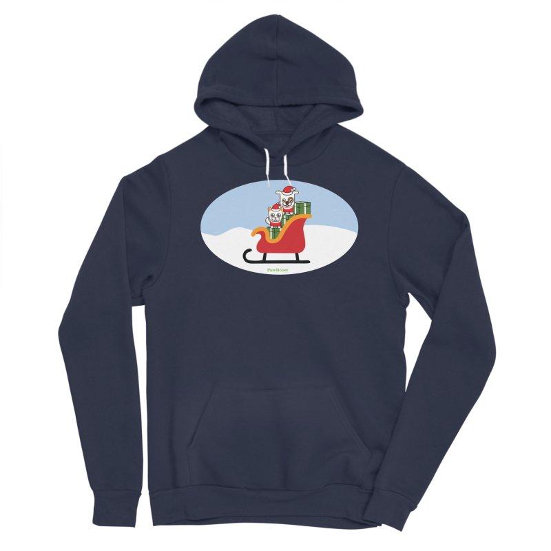 Santa Paws Men's Sponge Fleece Pullover Hoody by PawBoost's Shop