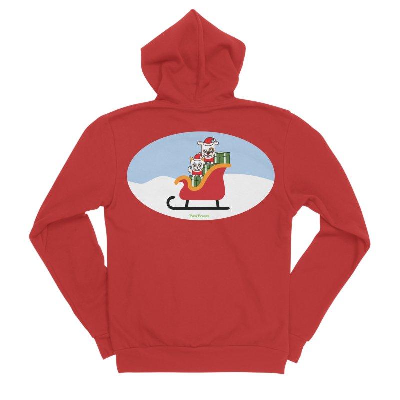 Santa Paws Women's Sponge Fleece Zip-Up Hoody by PawBoost's Shop