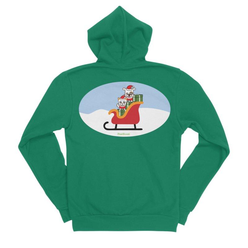 Santa Paws Men's Sponge Fleece Zip-Up Hoody by PawBoost's Shop