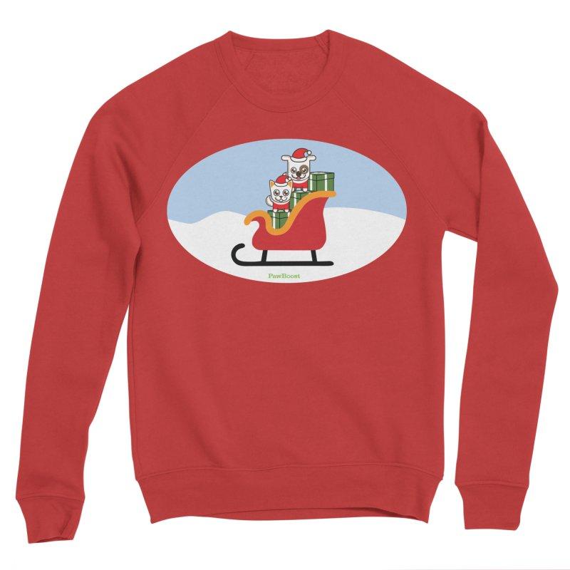 Santa Paws Men's Sponge Fleece Sweatshirt by PawBoost's Shop