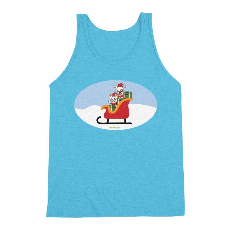 Santa Paws Men's Triblend Tank by PawBoost's Shop