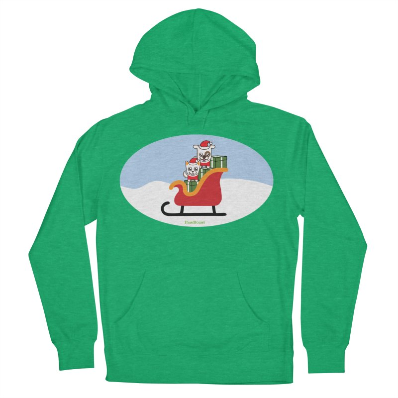 Santa Paws Women's French Terry Pullover Hoody by PawBoost's Shop