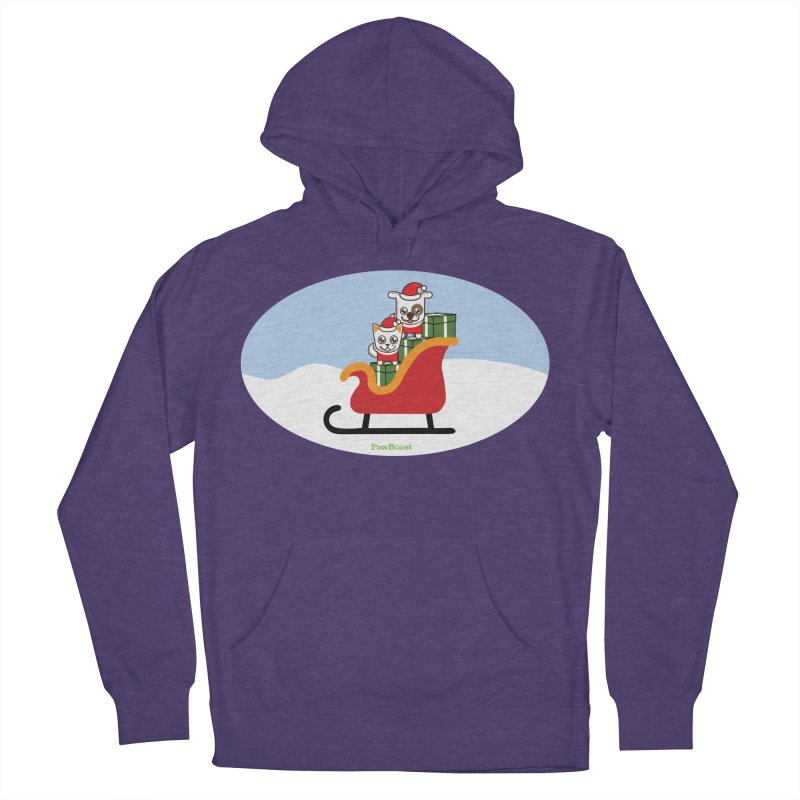 Santa Paws Men's French Terry Pullover Hoody by PawBoost's Shop
