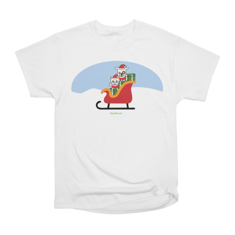 Santa Paws Men's Heavyweight T-Shirt by PawBoost's Shop
