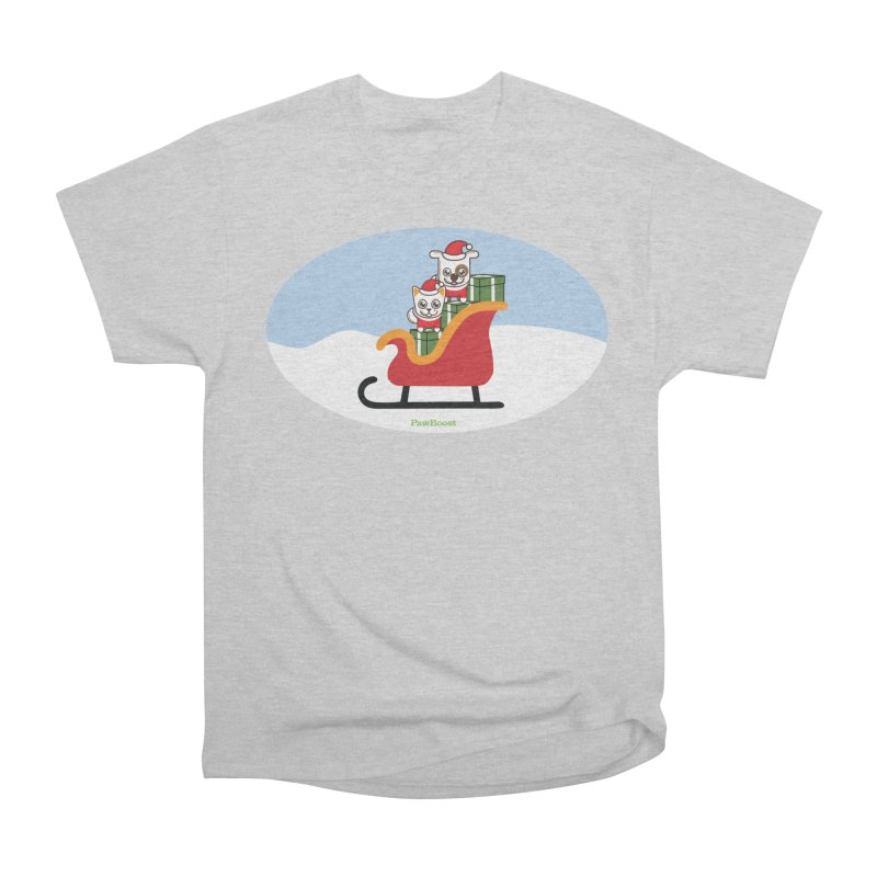 Santa Paws Men's Heavyweight T-Shirt by PawBoost's Shop
