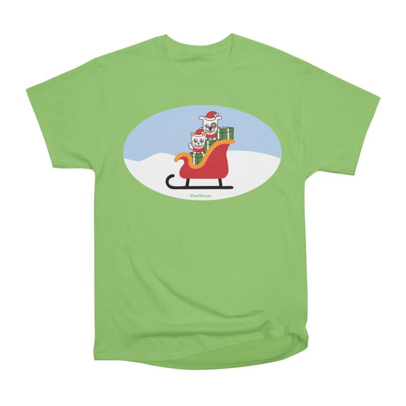 Santa Paws Women's Heavyweight Unisex T-Shirt by PawBoost's Shop