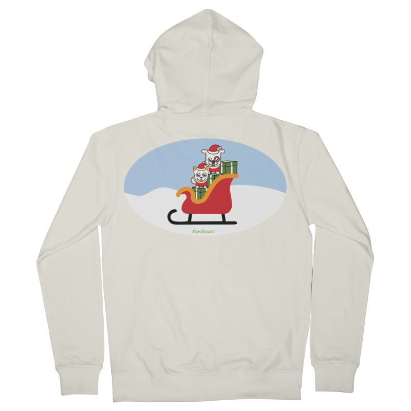 Santa Paws Women's French Terry Zip-Up Hoody by PawBoost's Shop
