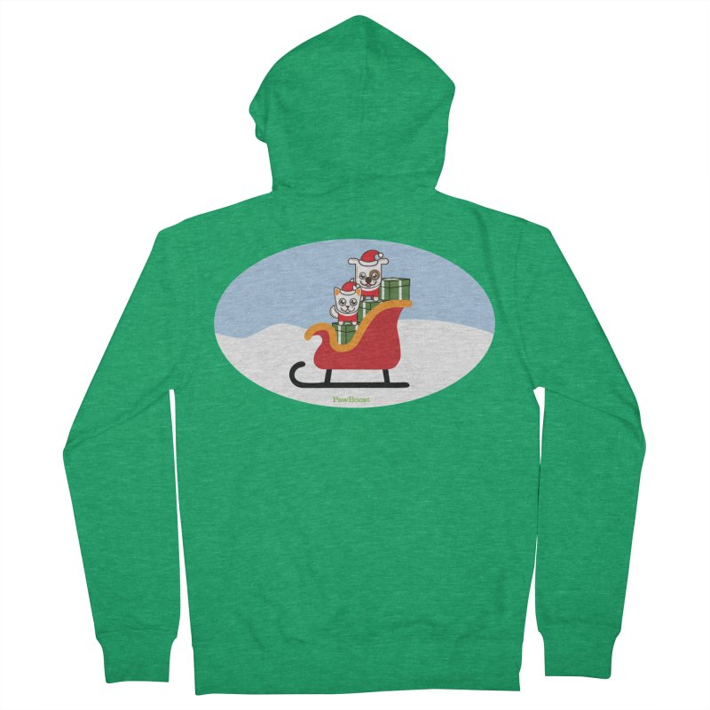 Santa Paws Men's Zip-Up Hoody by PawBoost's Shop