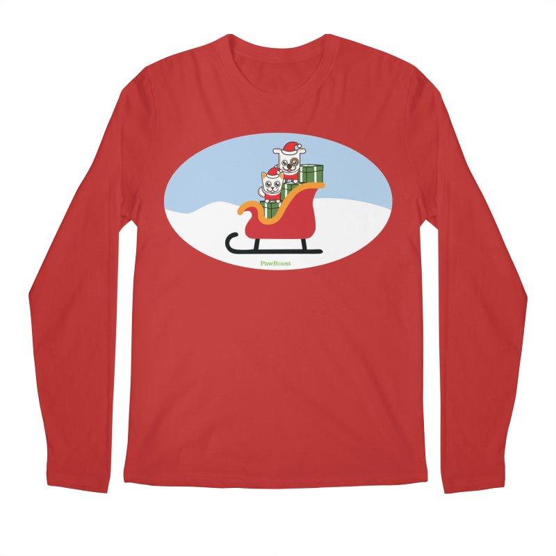Santa Paws Men's Regular Longsleeve T-Shirt by PawBoost's Shop
