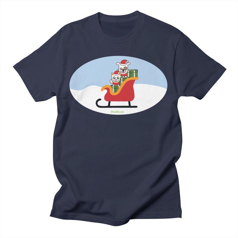 Santa Paws Men's T-Shirt by PawBoost's Shop