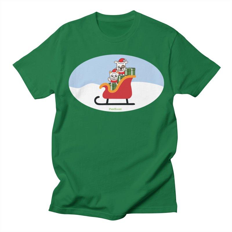 Santa Paws Men's Regular T-Shirt by PawBoost's Shop