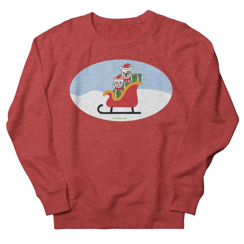 Santa Paws Men's French Terry Sweatshirt by PawBoost's Shop