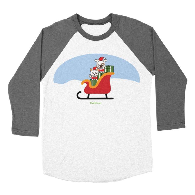 Santa Paws Women's Baseball Triblend Longsleeve T-Shirt by PawBoost's Shop