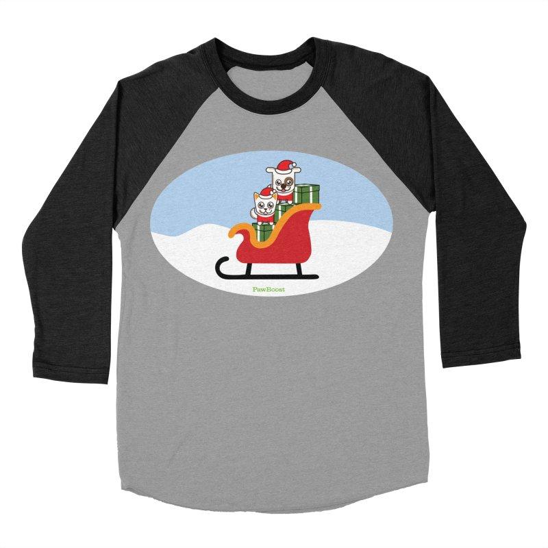 Santa Paws Men's Baseball Triblend Longsleeve T-Shirt by PawBoost's Shop