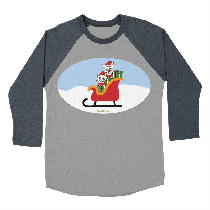 Santa Paws Men's Baseball Triblend Longsleeve T-Shirt by PawBoost's Shop
