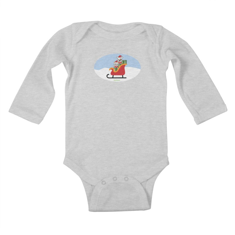 Santa Paws Kids Baby Longsleeve Bodysuit by PawBoost's Shop