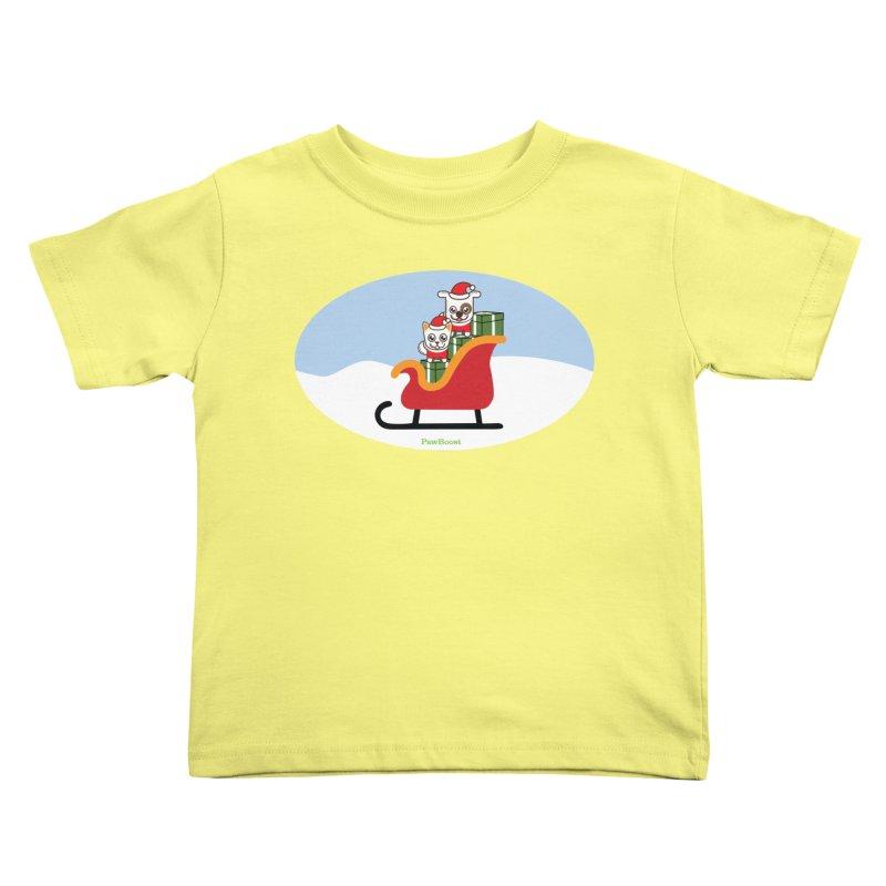 Santa Paws Kids Toddler T-Shirt by PawBoost's Shop