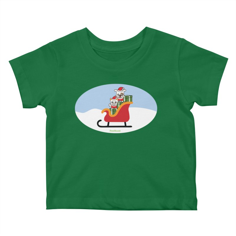 Santa Paws Kids Baby T-Shirt by PawBoost's Shop
