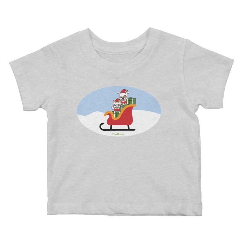 Santa Paws Kids Baby T-Shirt by PawBoost's Shop