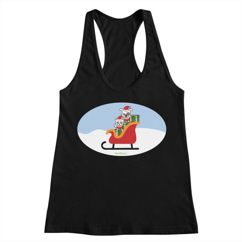 Santa Paws Women's Racerback Tank by PawBoost's Shop