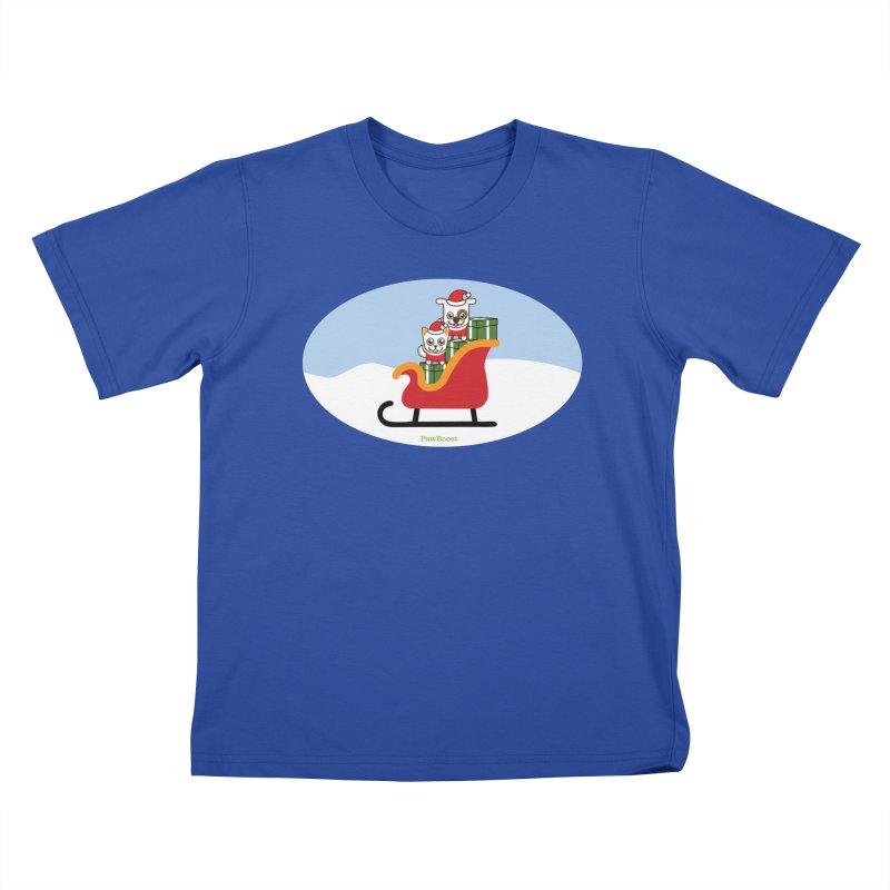 Santa Paws Kids T-Shirt by PawBoost's Shop