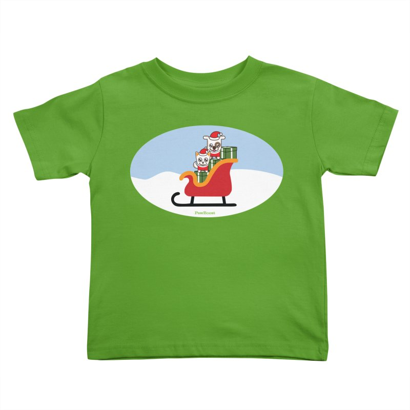 Santa Paws Kids Toddler T-Shirt by PawBoost's Shop