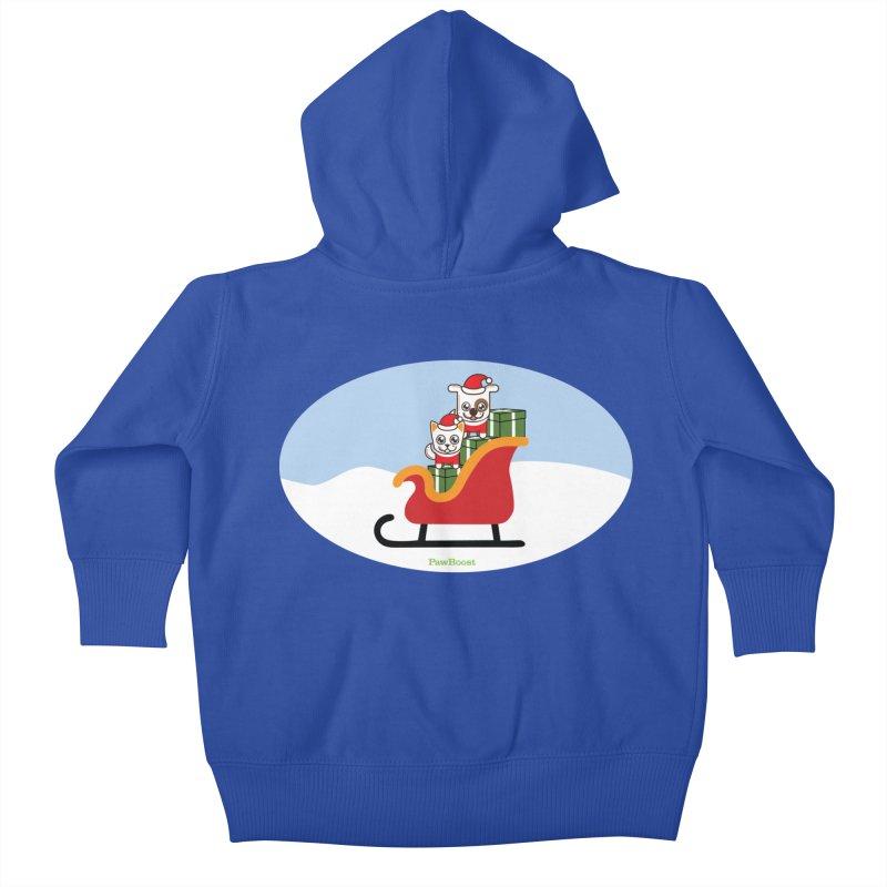 Santa Paws Kids Baby Zip-Up Hoody by PawBoost's Shop
