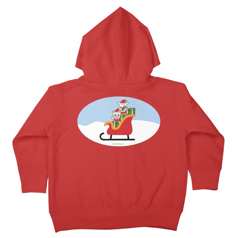 Santa Paws Kids Toddler Zip-Up Hoody by PawBoost's Shop