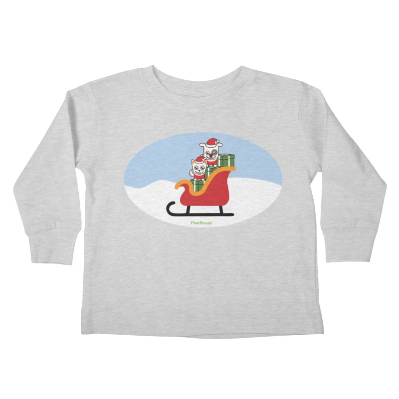 Santa Paws Kids Toddler Longsleeve T-Shirt by PawBoost's Shop