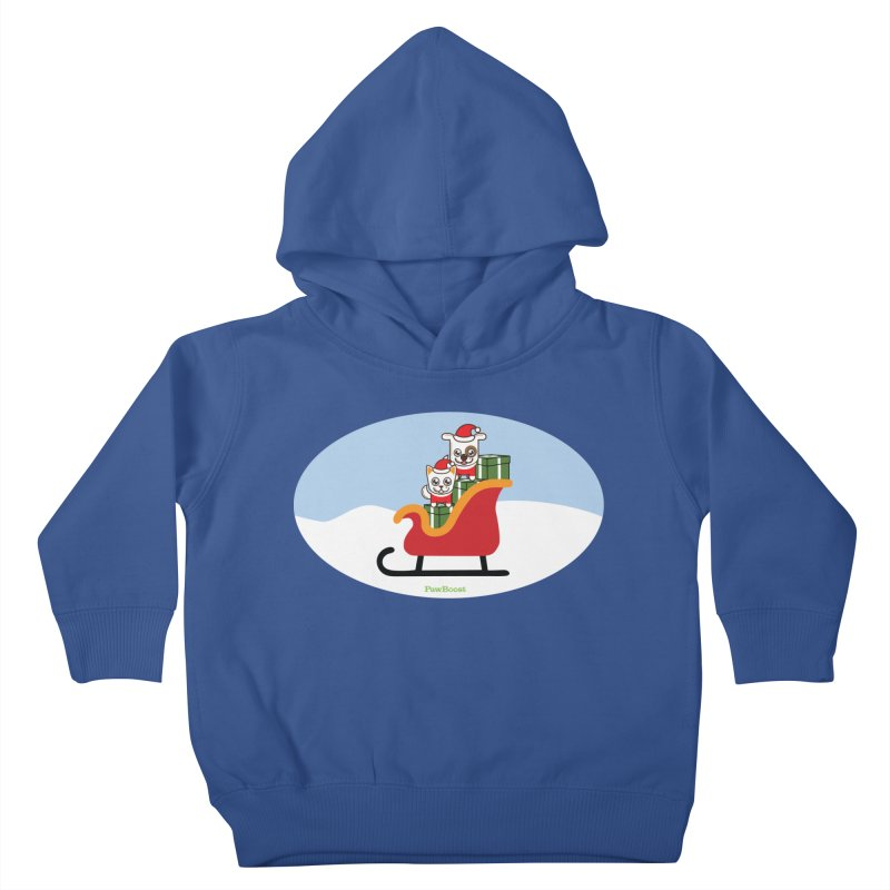 Santa Paws Kids Toddler Pullover Hoody by PawBoost's Shop