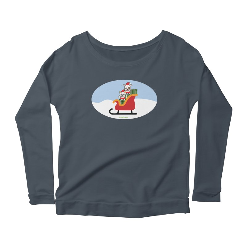 Santa Paws Women's Scoop Neck Longsleeve T-Shirt by PawBoost's Shop
