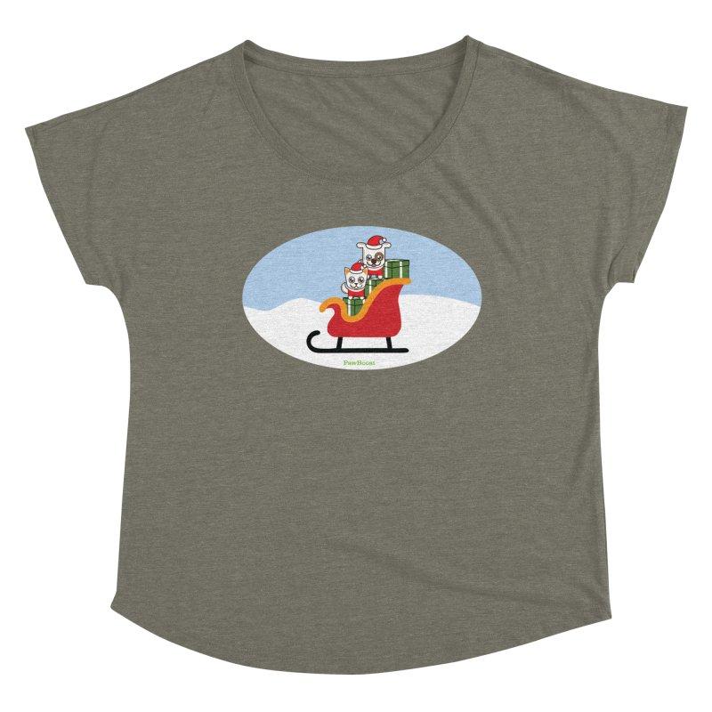 Santa Paws Women's Dolman Scoop Neck by PawBoost's Shop