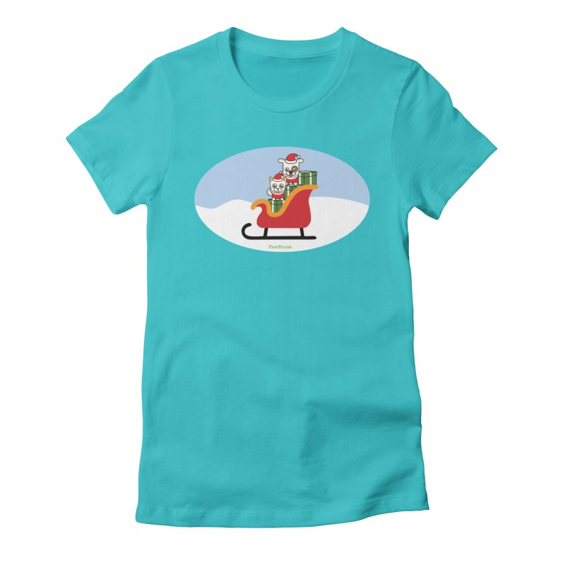 Santa Paws Women's Fitted T-Shirt by PawBoost's Shop