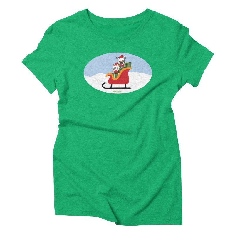 Santa Paws Women's Triblend T-Shirt by PawBoost's Shop