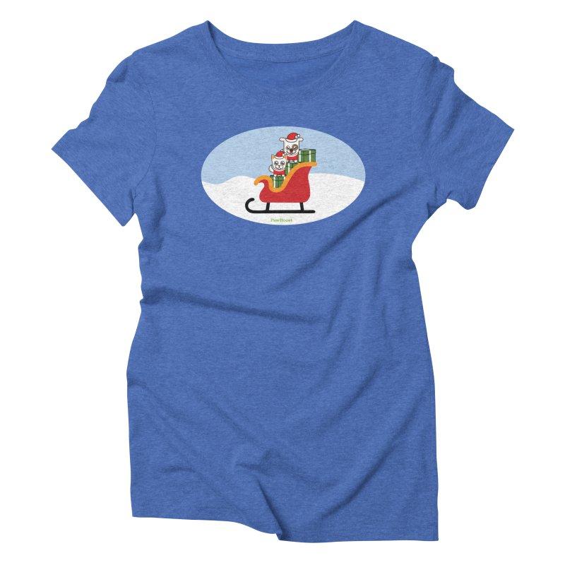 Santa Paws Women's Triblend T-Shirt by PawBoost's Shop