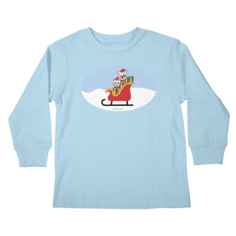 Santa Paws Kids Longsleeve T-Shirt by PawBoost's Shop