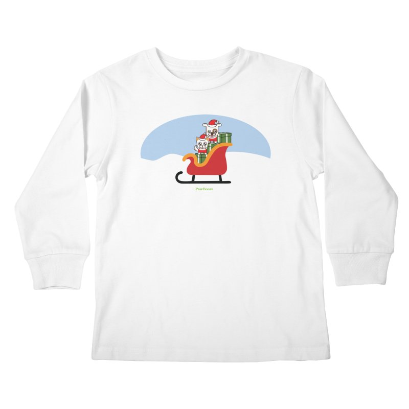 Santa Paws Kids Longsleeve T-Shirt by PawBoost's Shop