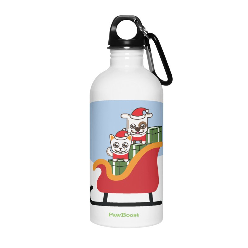 Santa Paws Accessories Water Bottle by PawBoost's Shop