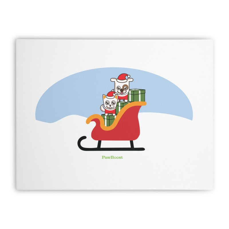 Santa Paws Home Stretched Canvas by PawBoost's Shop