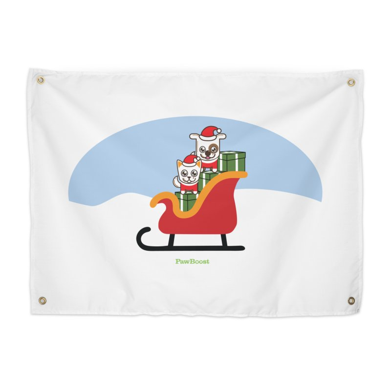 Santa Paws Home Tapestry by PawBoost's Shop